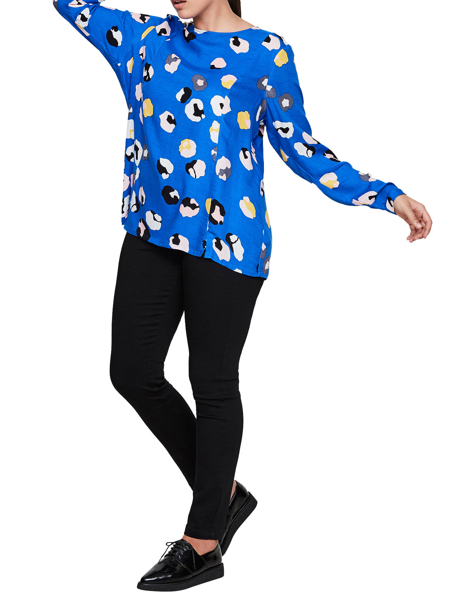 BuyI.Scenery Lien Print Blouse, Blue, 18 Online at johnlewis.com