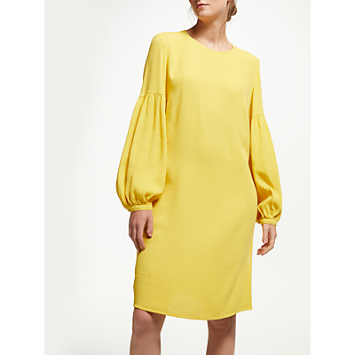 Finery Lime Blouson Sleeve Dress, Sunglow Yellow