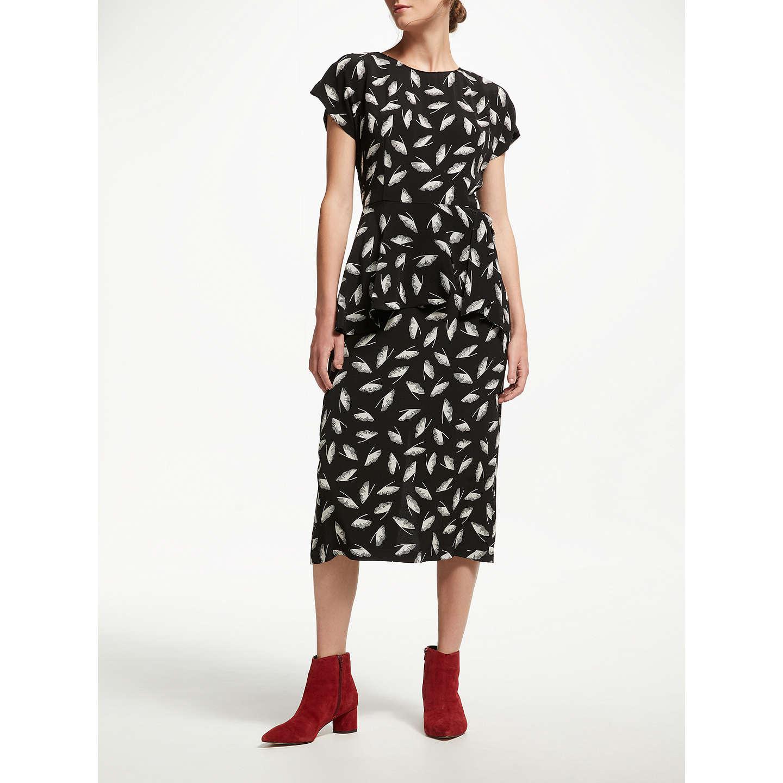 BuyFinery Eva Peplum Dress BlackIvory 8 Online