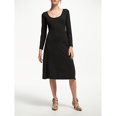 Finery Jacquey Jersey Midi Dress, Black