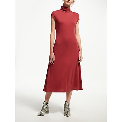 Finery Leigh High Neck Dress, Garnet Rose