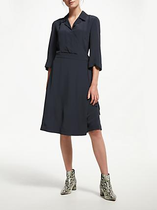 Finery Bramble Wrap Dress, Midnight