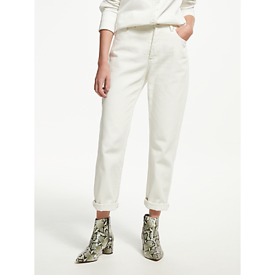 Finery Aiko Boyfriend Jeans, White