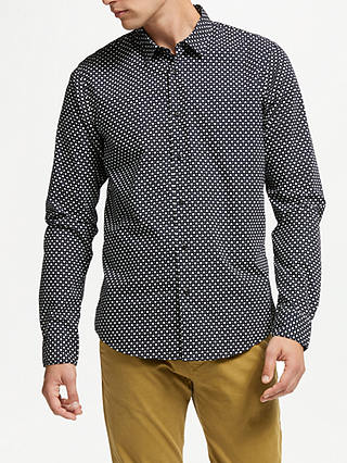 Buy Scotch & Soda Print Poplin Shirt, Combo E Navy, L Online at johnlewis.com