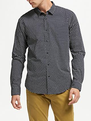Scotch & Soda Print Poplin Shirt, Combo E Navy