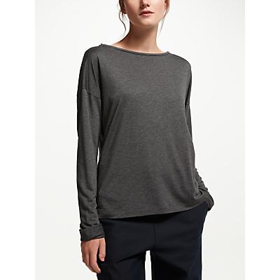 Finery Broadley Jersey Top, Charcoal Grey