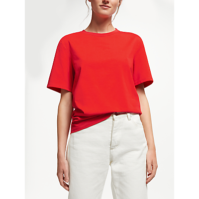Finery Nightingale Cotton T-Shirt, Red