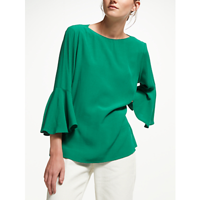 Finery Begonia Flute Sleeve Top, Green