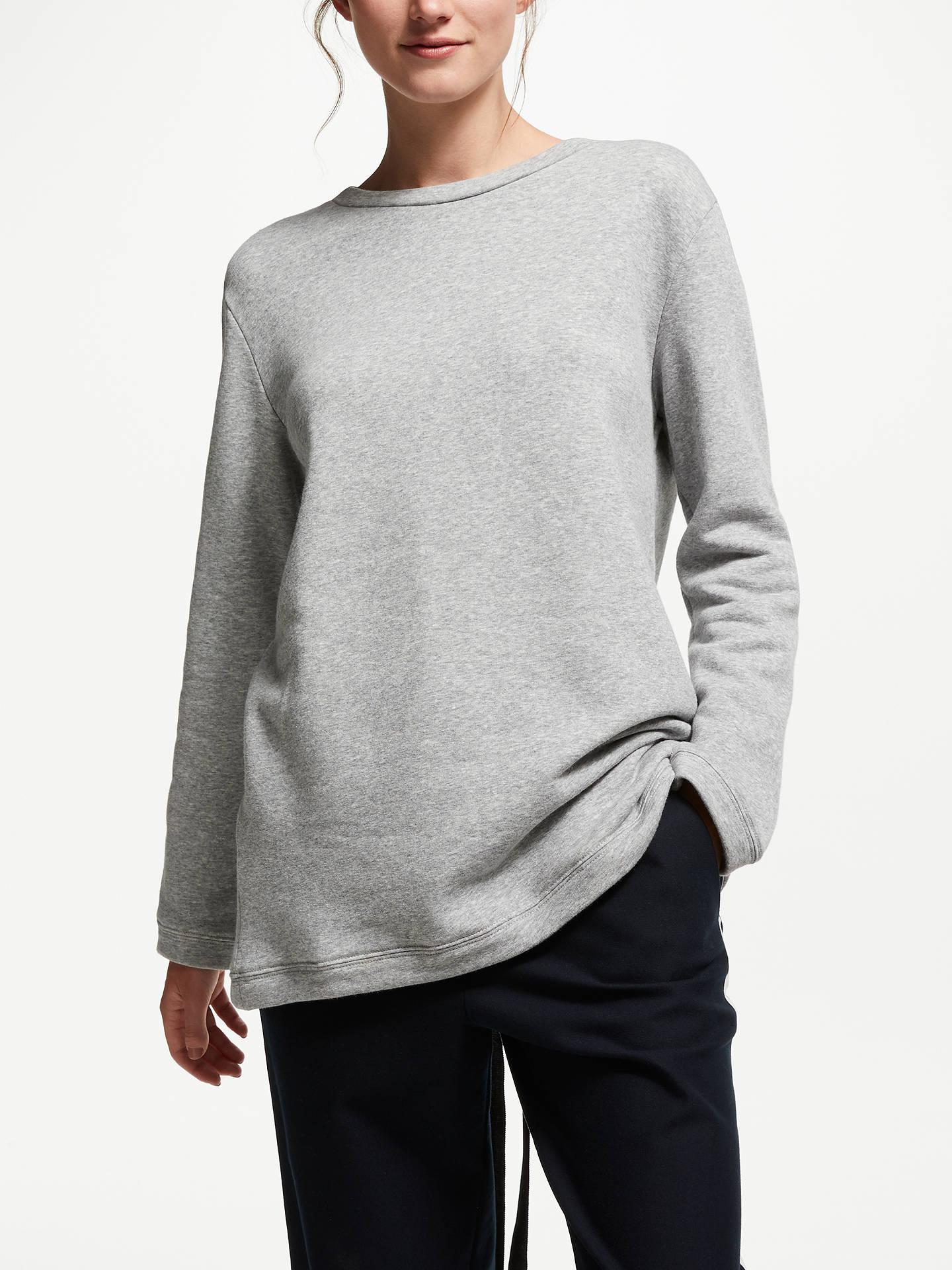842b699602f541 Buy Finery Saffron Ribbon Tie Back Sweatshirt, Grey Marl, 16 Online at  johnlewis.