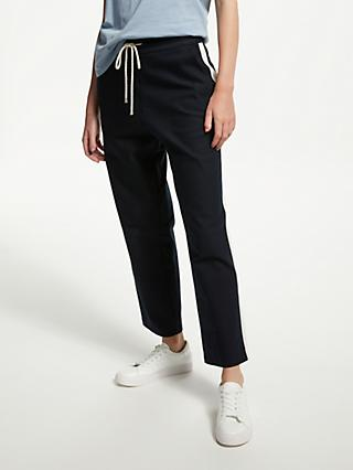 Finery Monika Side Stripe Trouser, Navy and White