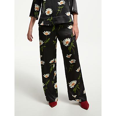 Finery Abelia Floral Trousers, Black/Multi