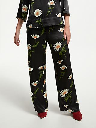 Finery Abelia Floral Trousers, Black/Multi