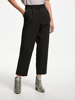 Finery Maya Tapered Trousers, Black