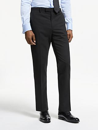 John Lewis & Partners Plain Slim Fit Suit Trousers, Black