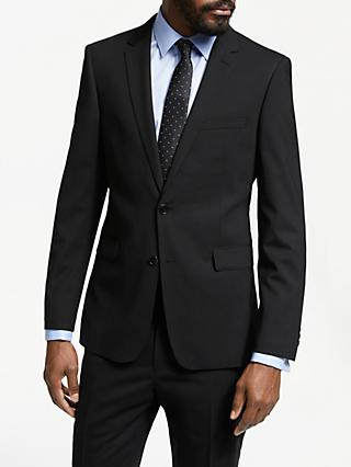 John Lewis & Partners Plain Slim Fit Suit Jacket, Black
