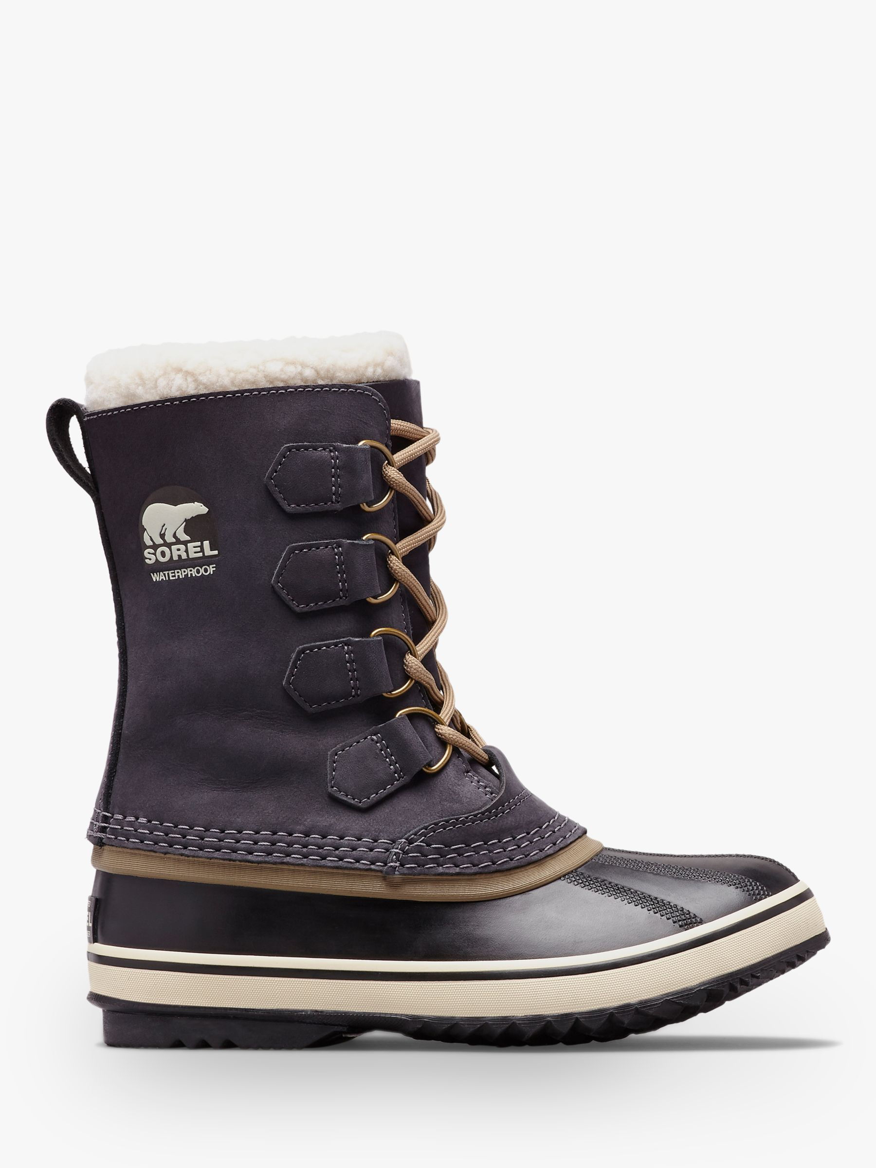 most fashionable latest design best online Sorel PAC2 Lace Up Waterproof Ankle Snow Boots, Black Leather