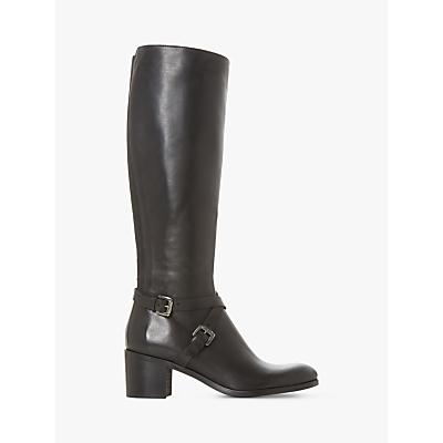 Dune Black Torney Knee Boots