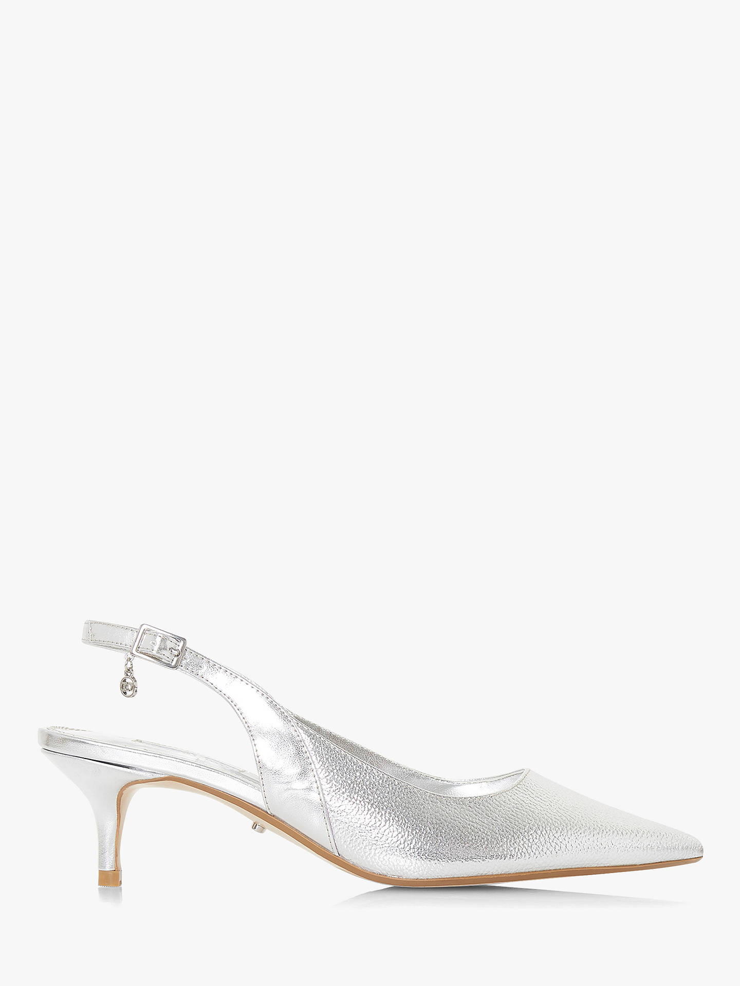 c6fa70b4f09 Dune Cinda Kitten Heel Slingback Court Shoes at John Lewis & Partners