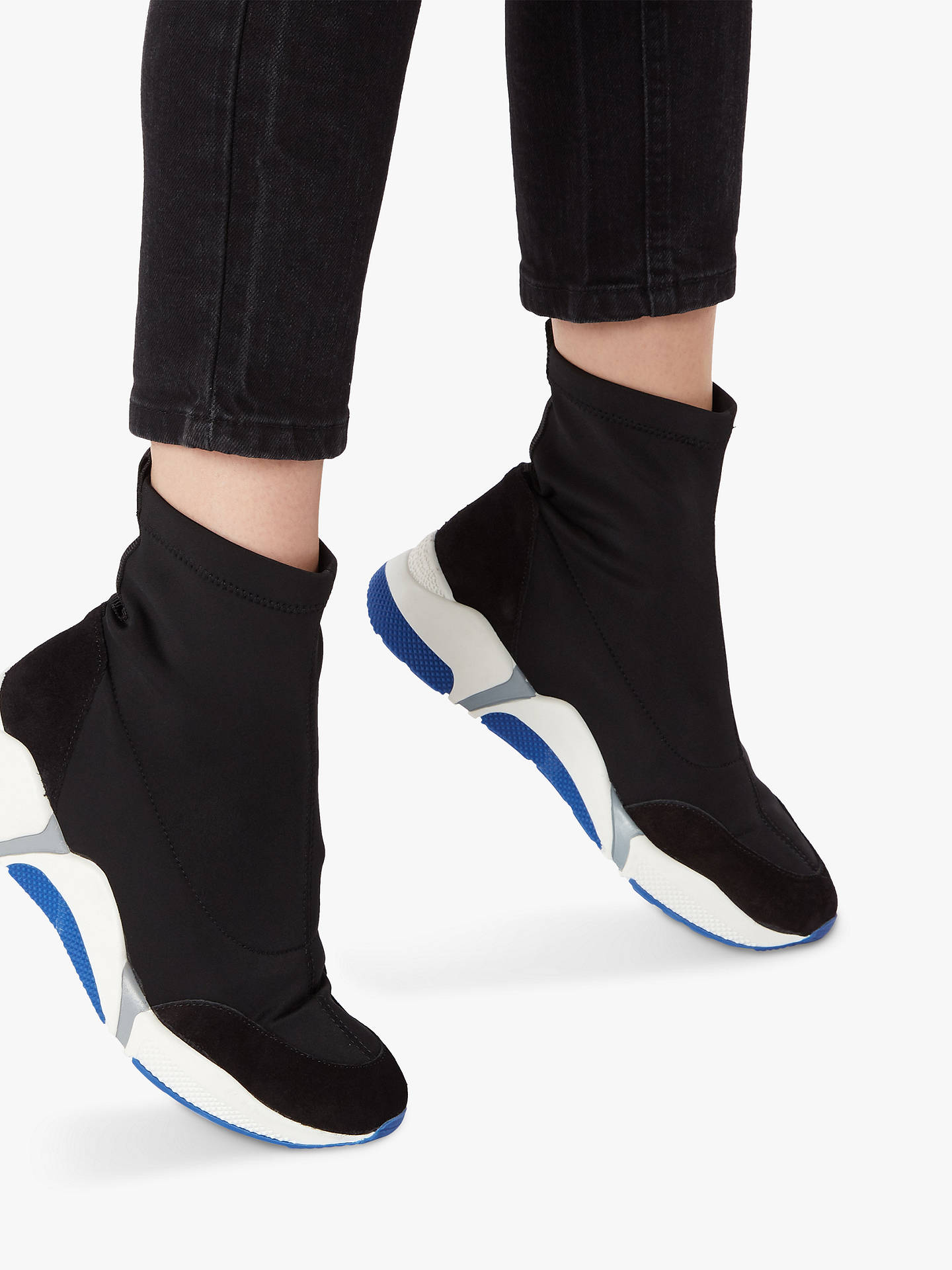 BuyDune Equiption Sock Trainers, Black/Multi, 3 Online at johnlewis.com