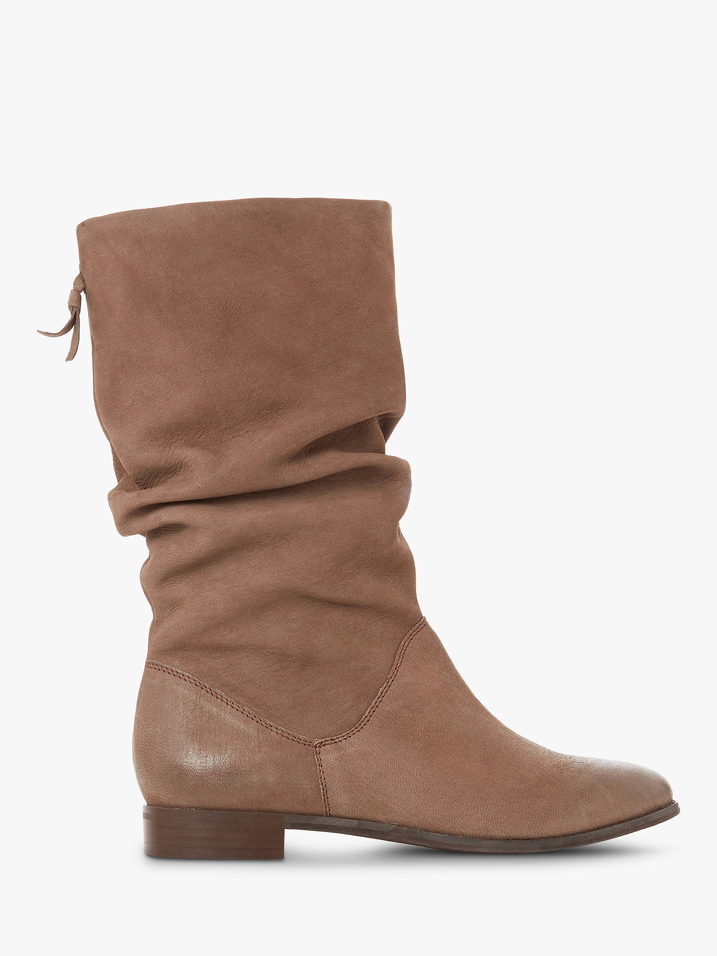 978713dc3da54 Buy Dune Rosalindd Calf Boots, Taupe Leather, 2 Online at johnlewis.com ...