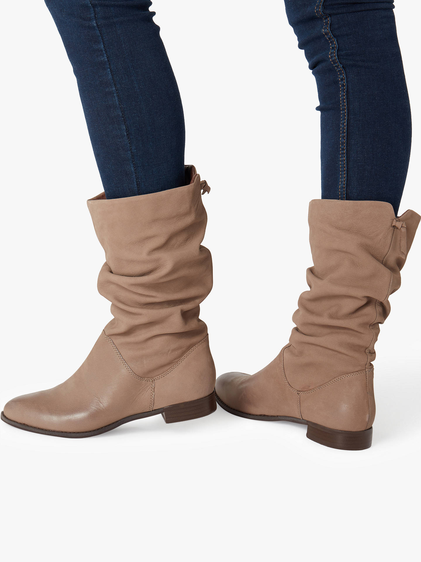 bdded57b76a70 ... Buy Dune Rosalindd Calf Boots, Taupe Leather, 2 Online at johnlewis.com  ...