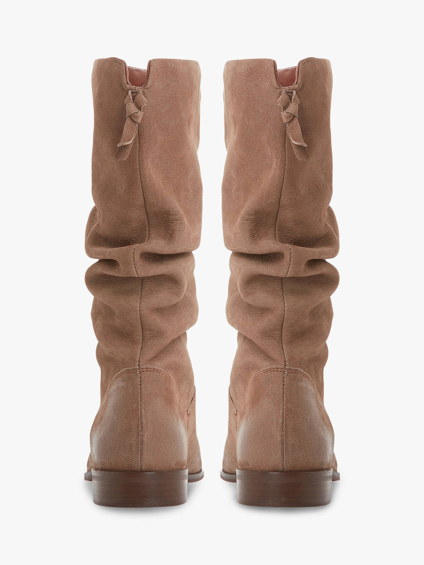ffd4256b3c8 Dune Rosalindd Calf Boots, Taupe Leather at John Lewis & Partners