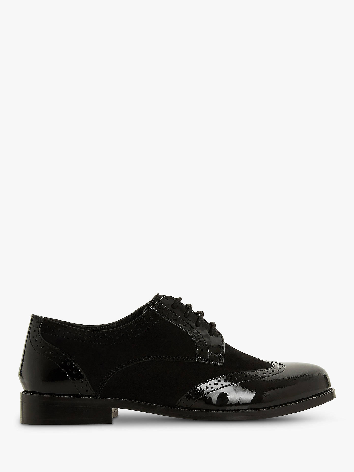 2ef1f343ef211 Buy Dune Foxxy Wide Fit Lace Up Brogues, Black Leather Mix, 3 Online at ...