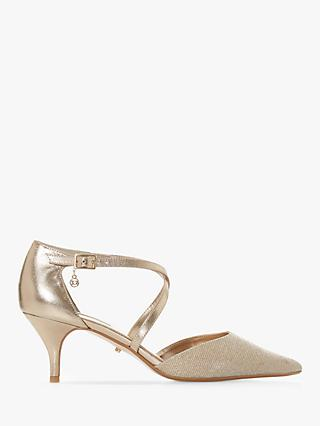 ea35f215d2a Dune Courtnee Cross Strap Kitten Heel Court Shoes
