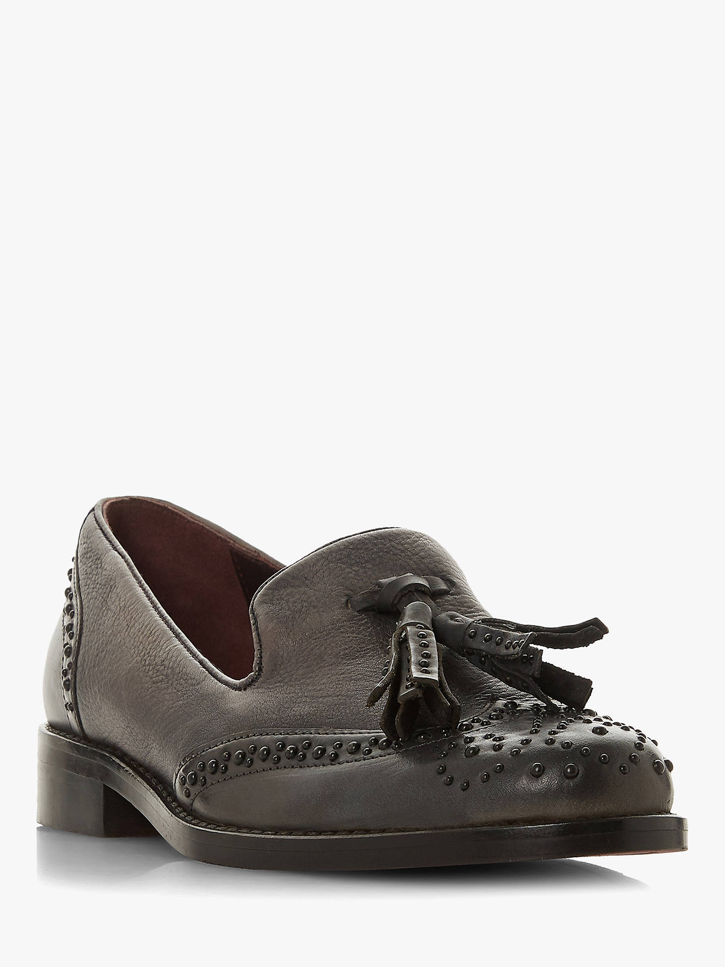 Buy Bertie Grenich Studded Loafers, Grey, 3 Online at johnlewis.com