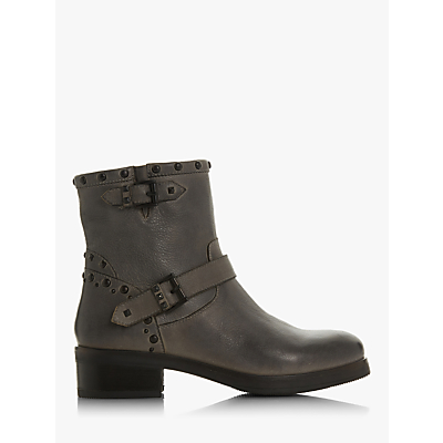 Bertie Prescot Studded Buckle Ankle Boots