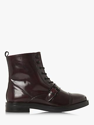 Bertie Point Buckle Lace Up Ankle Boots