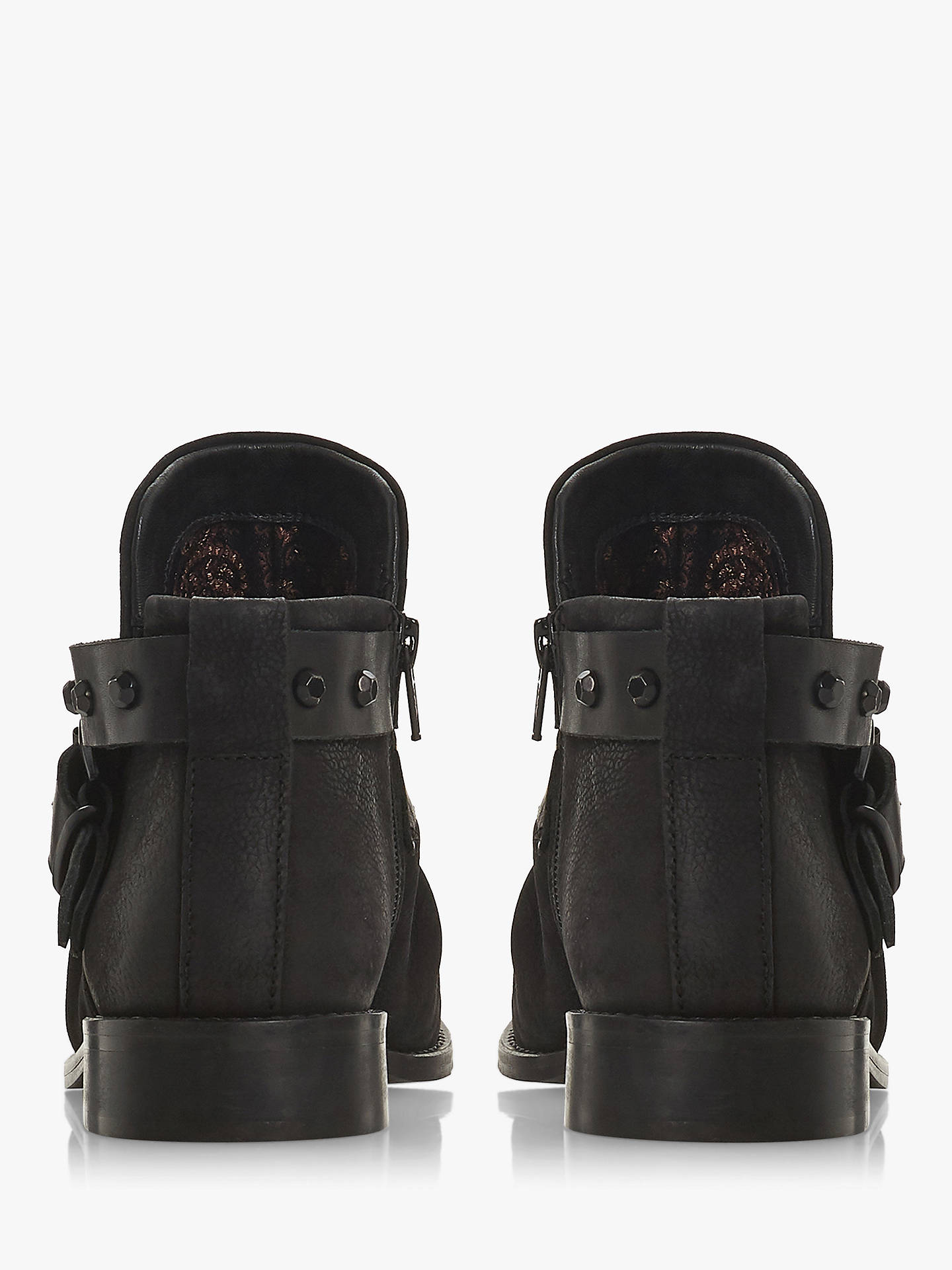 BuyBertie Portar Wrap Around Buckle Ankle Boots, Black Nubuck Leather, 5 Online at johnlewis.com
