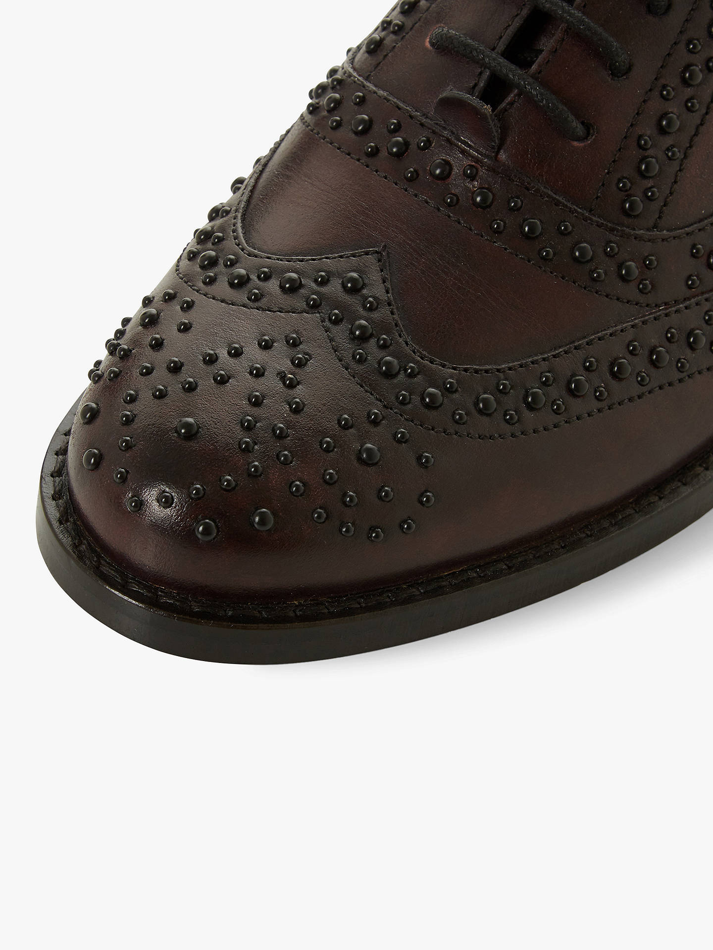 Buy Bertie Forrce Leather Lace Up Brogues, Red, 3 Online at johnlewis.com