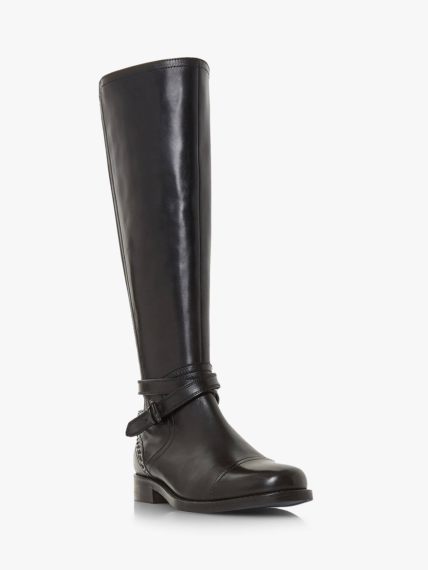 BuyBertie Taykoda Knee High Boots, Black Leather, 3 Online at johnlewis.com