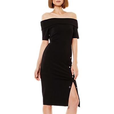 Karen Millen Bardot Popper Dress, Black