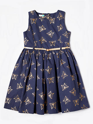 Buy John Lewis & Partners Girls' Prom Dress, Navy, 11 years Online at johnlewis.com