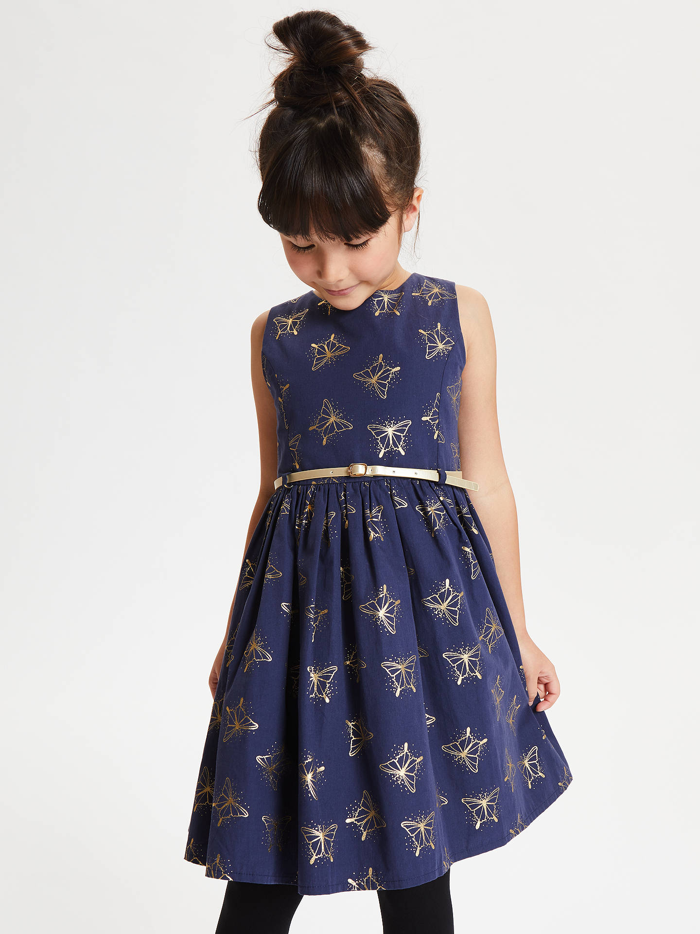 Buy John Lewis & Partners Girls' Prom Dress, Navy, 4 years Online at johnlewis.com