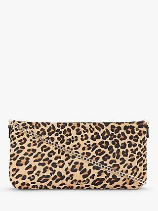 Dune Bronwynn Leather Cross Body Bag Leopard