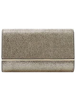 Dune Elysse Bar Detail Fold Over Clutch Bag Gold