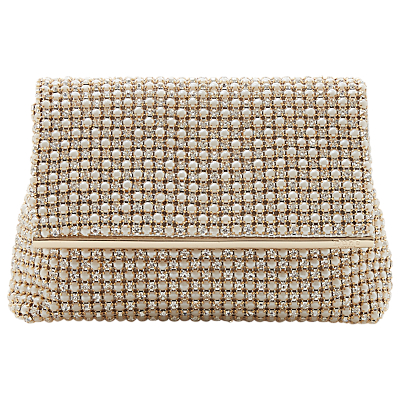6856cd6831d8 Dune Everlina Diamante Embellished Clutch Bag