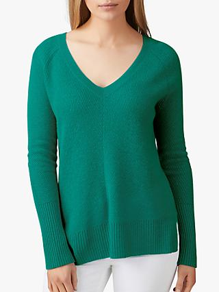 Pure Collection Gassato Cashmere Lofty Textured Jumper, Frosted Opal
