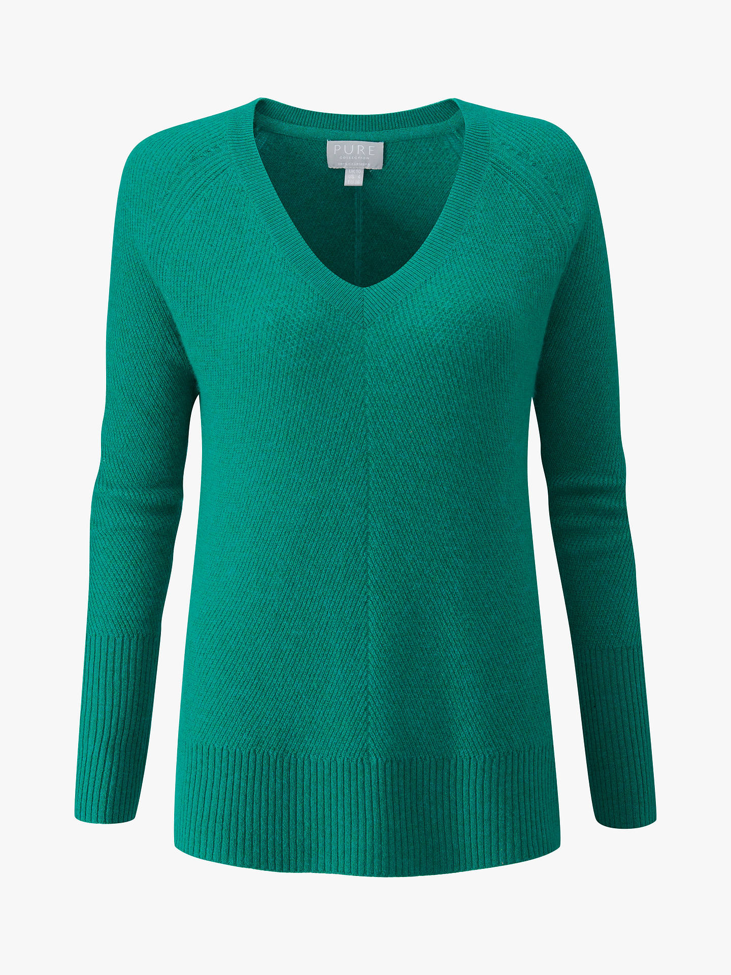 Buy Pure Collection Gassato Cashmere Lofty Textured Jumper, Frosted Opal, 20 Online at johnlewis.com