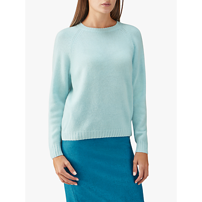 Pure Collection Cashmere Lofty Jumper, Frosted Opal