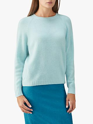 df2ed6f474a83e Pure Collection Cashmere Lofty Jumper, Frosted Opal
