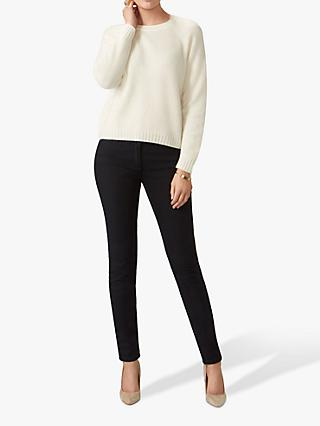 Pure Collection Cashmere Lofty Jumper, Soft White
