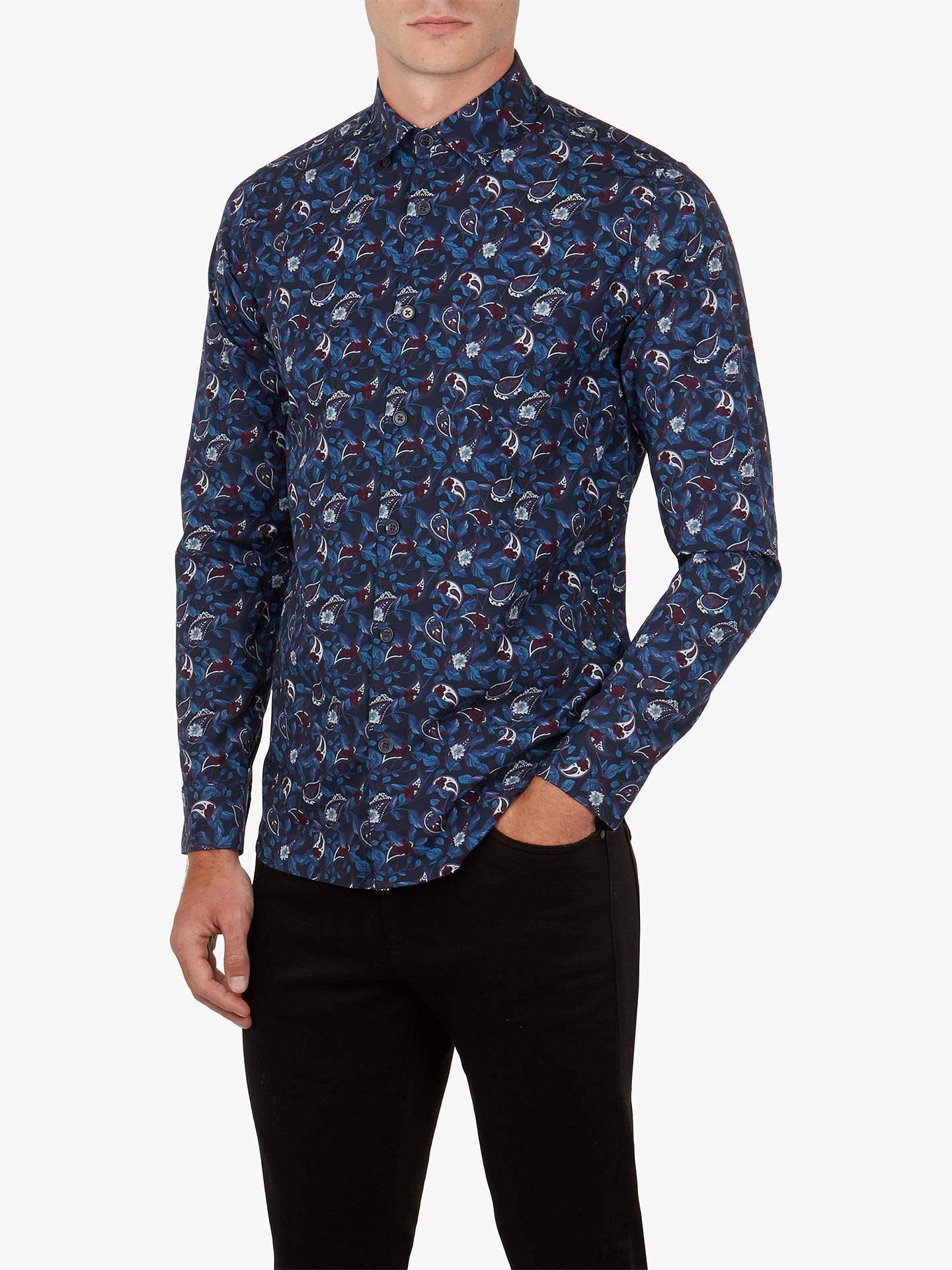 db952cdee3aa Ted Baker Jonpay Long Sleeve Printed Shirt at John Lewis   Partners