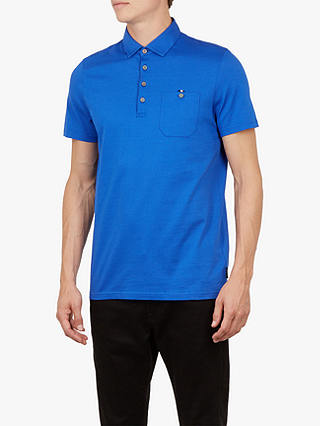 Buy Ted Baker Wreath Short Sleeve Polo Shirt, Bright Blue, 7 Online at johnlewis.com