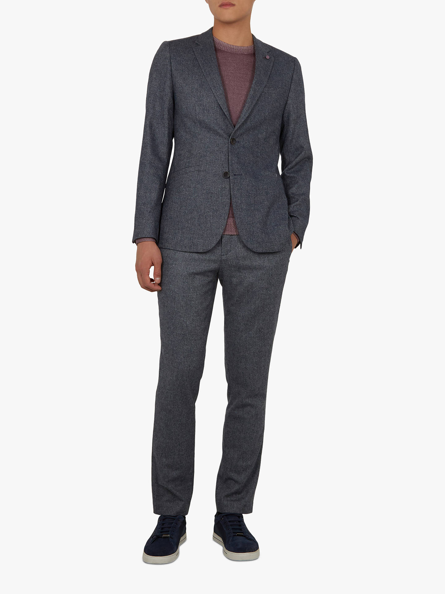 BuyTed Baker Jumpinn Blazer, Blue, 6 Online at johnlewis.com