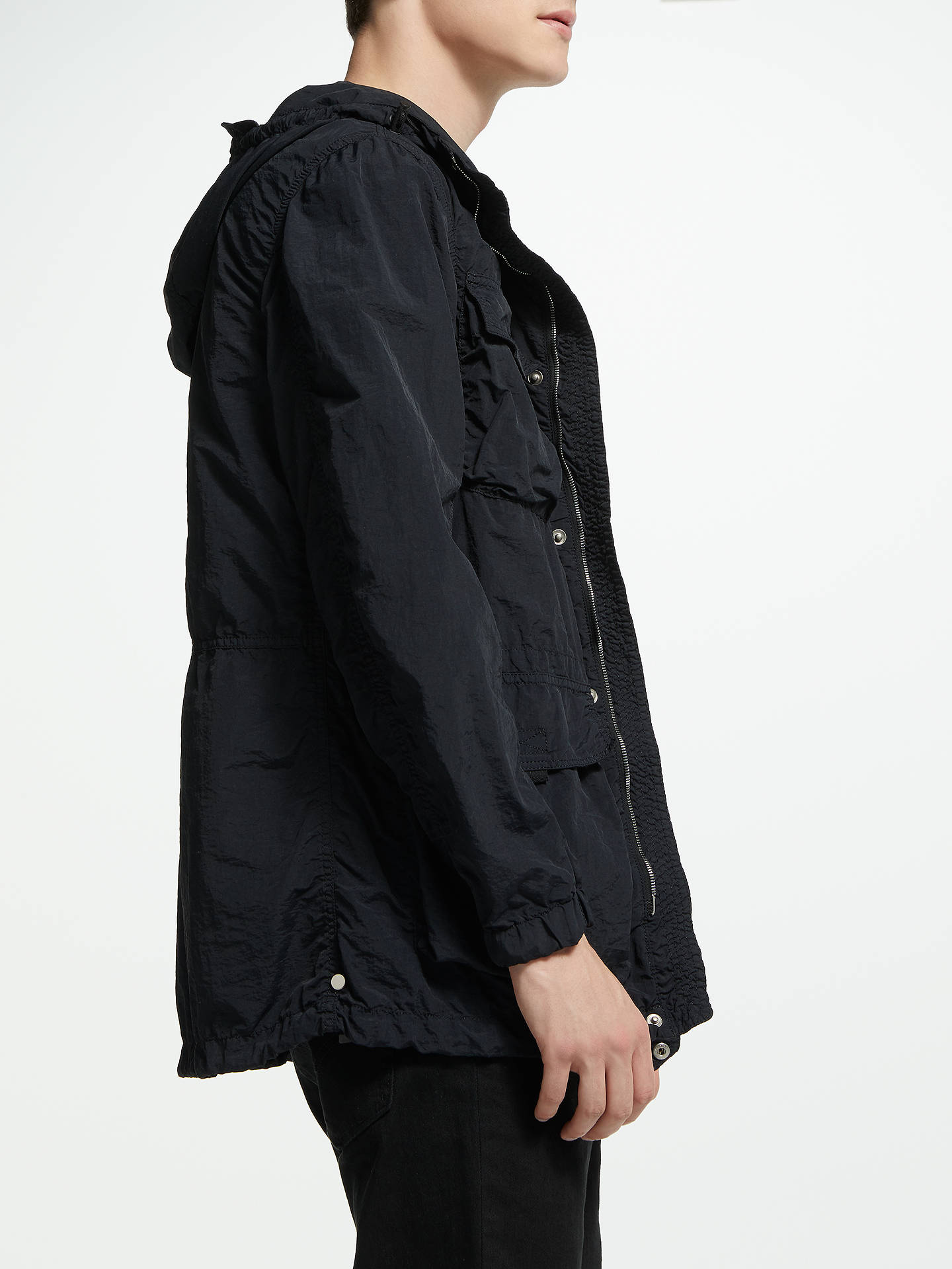 Buy Belstaff Pallington Jacket, Black, 50 Online at johnlewis.com