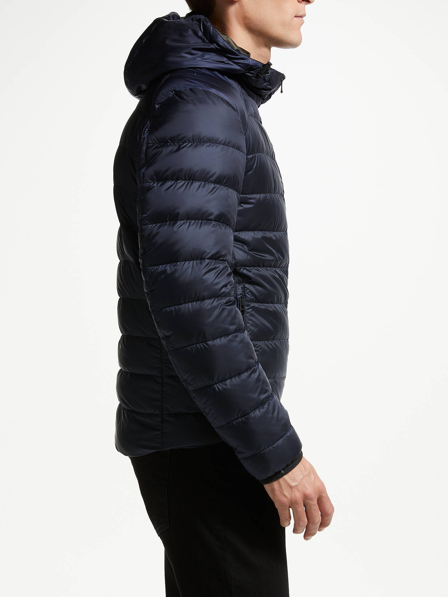 BuyBelstaff Redden Hall Down Hooded Jacket, Deep Navy, 52 Online at johnlewis.com